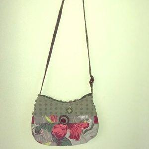 Vintage style crossbody handbag